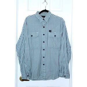 Vintage POLO SPORT Plaid Flannel Shirt Baby Blue